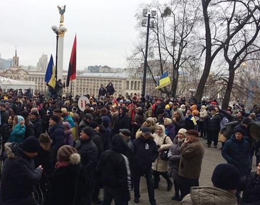 В милиции поведали подробности конфликта под Октябрьским дворцом— Митинг вКиеве